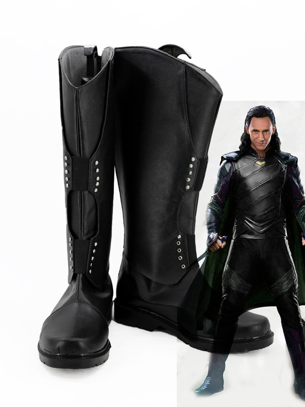 Thor 3 Ragnarok Loki Cosplay Boots PU Leahter Shoes Custom Made Halloween Cosplay