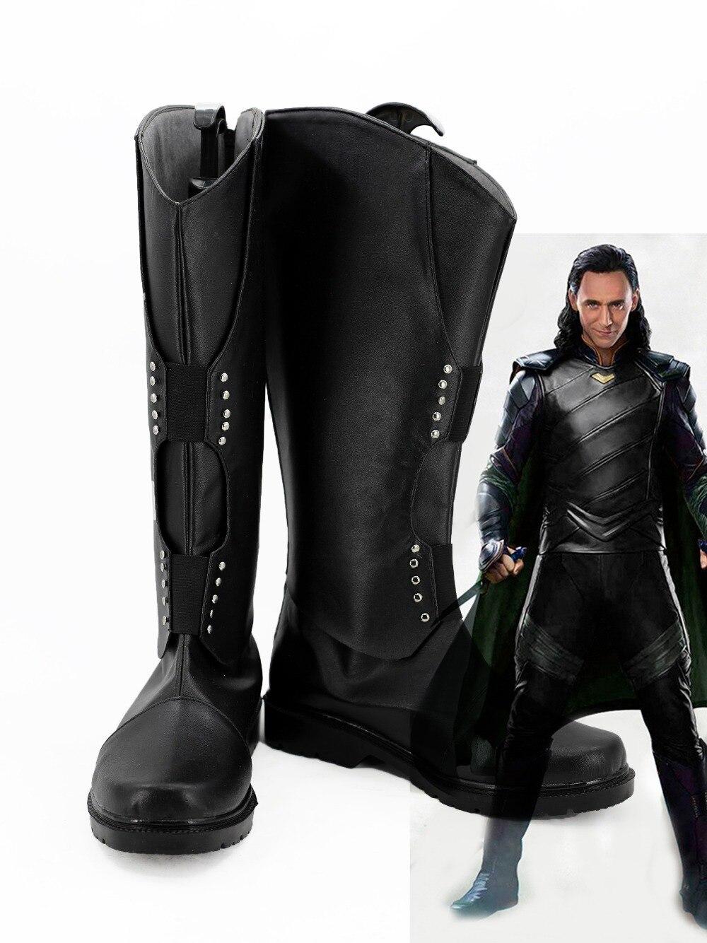 Thor 3 Ragnarok Loki Cosplay Stivali DELL'UNITÀ di ELABORAZIONE Leahter Scarpe Su Ordine di Halloween Cosplay