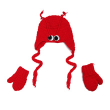 Lobster Hat Baby Creative Baby Photography Studio Accessories Red Knitted Newborn Photography 03 Girl Month Boy And Unisex