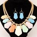 Conjuntos de jóias geométrica para as mulheres colar de declaração e brincos traje africano jóias Set India atacado jóias