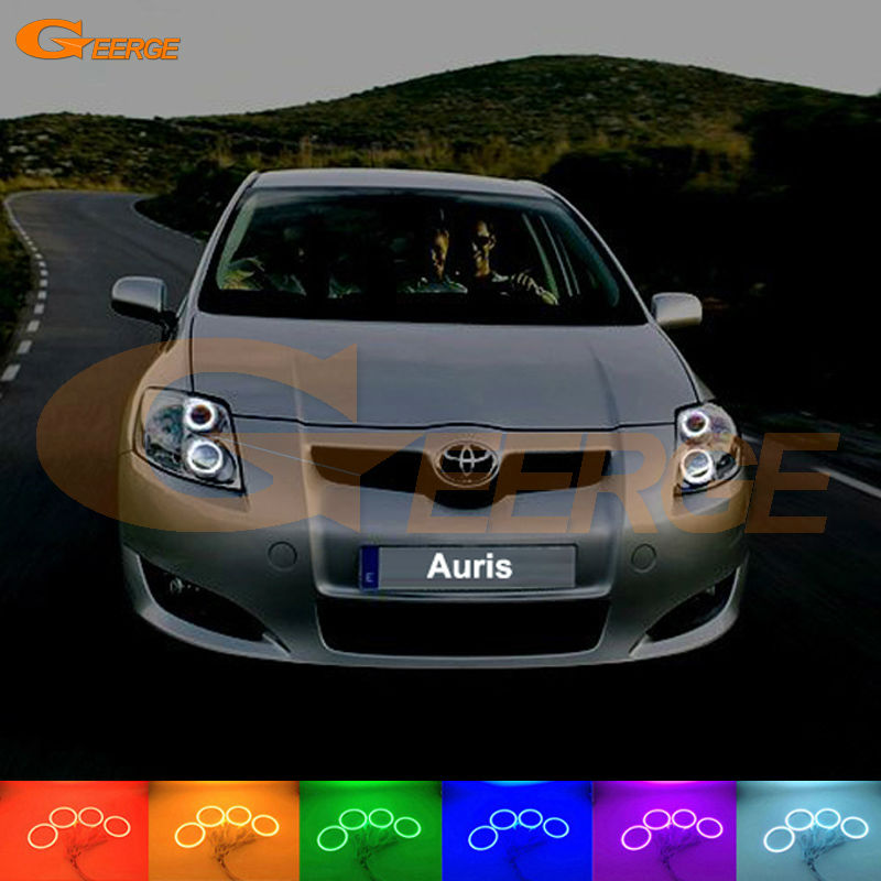 цена на For Toyota Auris 2007 2008 2009 Europe Excellent Angel Eyes Multi-Color Ultra bright RGB LED Angel Eyes kit Halo Rings