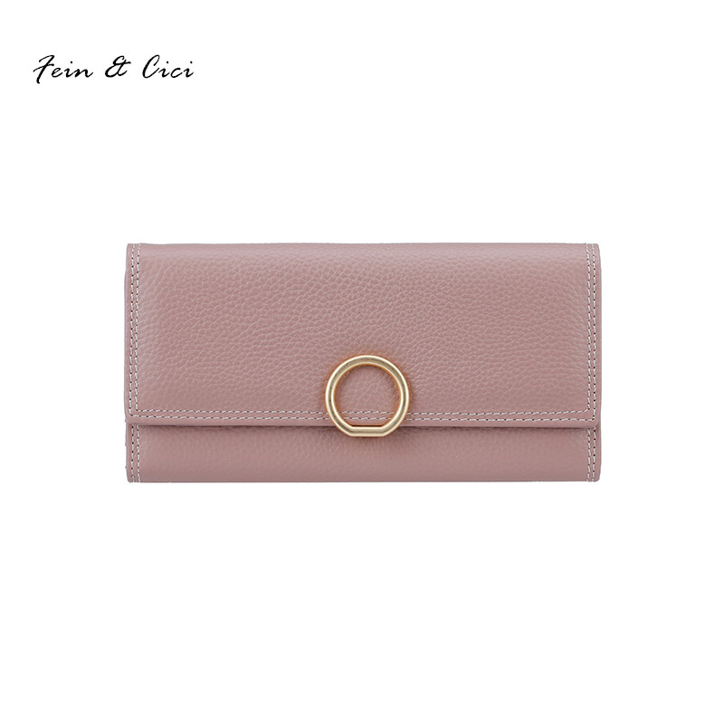 genuine Leather wallets women cow leater high quality Card Holder Long Wallet Purse Clutch 2017 new pink grey black red color aim fashion women s long clutch wallet and purse brand designer vintage leather wallets women bags high quality card holder n801