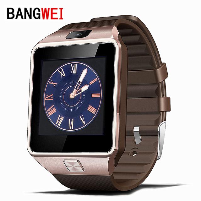 BANGWEI Reloj Inteligente Reloj Con Ranura Para Tarjeta Sim Empuje Mensaje Conectividad Bluetooth Teléfono Android Mejor Que Smartwatch DZ09