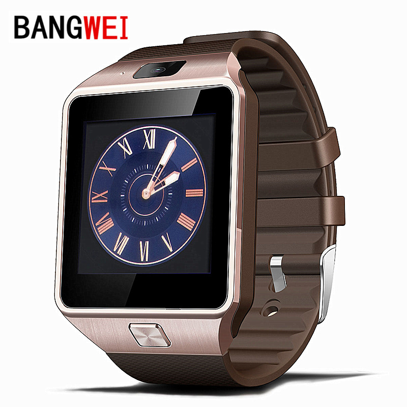BANGWEI Smart Watch Clock With Sim Card Slot Push Message Bluetooth Connectivity Android Phone Better Than