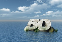 Laeacco Birthday Sea Ocean Island 50th Number Scene Photography Backgrounds Customized Photographic Backdrop For Photo Studio