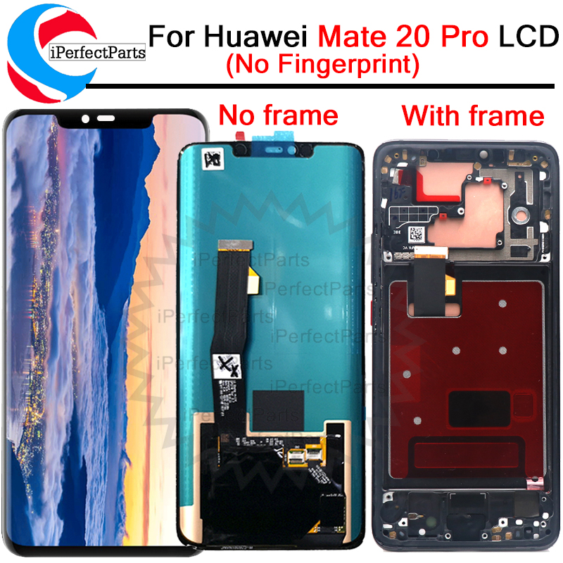 6 39 LCD For Huawei mate 20 Pro LCD Display Screen With frame Touch Screen Digitizer