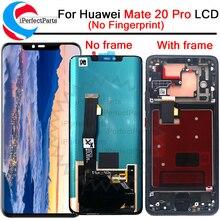 Pantalla LCD de 6,39 pulgadas para Huawei mate 20 Pro LCD con marco de montaje de digitalizador con pantalla táctil LCD de repuesto con marco