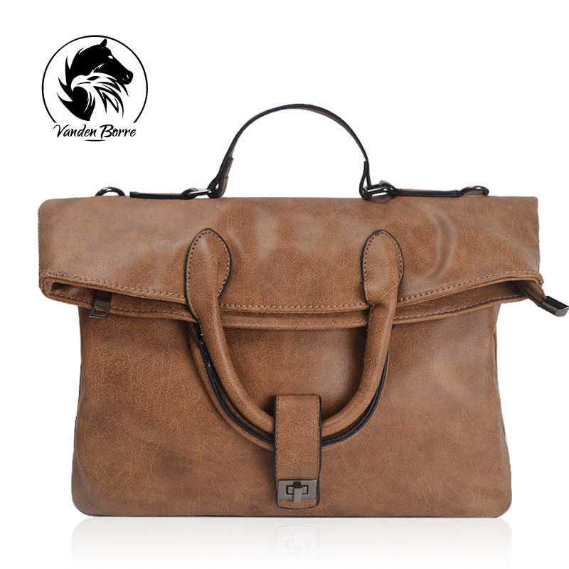ФОТО 2017 Retro Women Briefcase Business Shoulder Bag PU Messenger Bags Woman Handbag Tote Bag Casual Travel Bag Sac Hommes