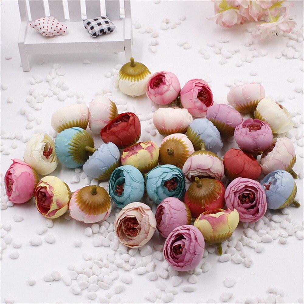 Новый 5 шт./лот розы голову Малый бутон розы прицветник моделирования шелковые цветы розы декоративные цветы украшения дома для свадьбы