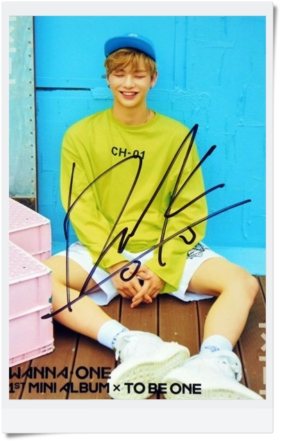 signed  WANNA ONE KANG DANIEL autographed  photo TO BE ONE  6 inches  freeshipping  092017D d gnak by kang d пиджак