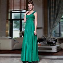 free shipping 2013 Green one shoulder mint green chiffon elegant banquet mother of the bride pant suit design slim evening dress
