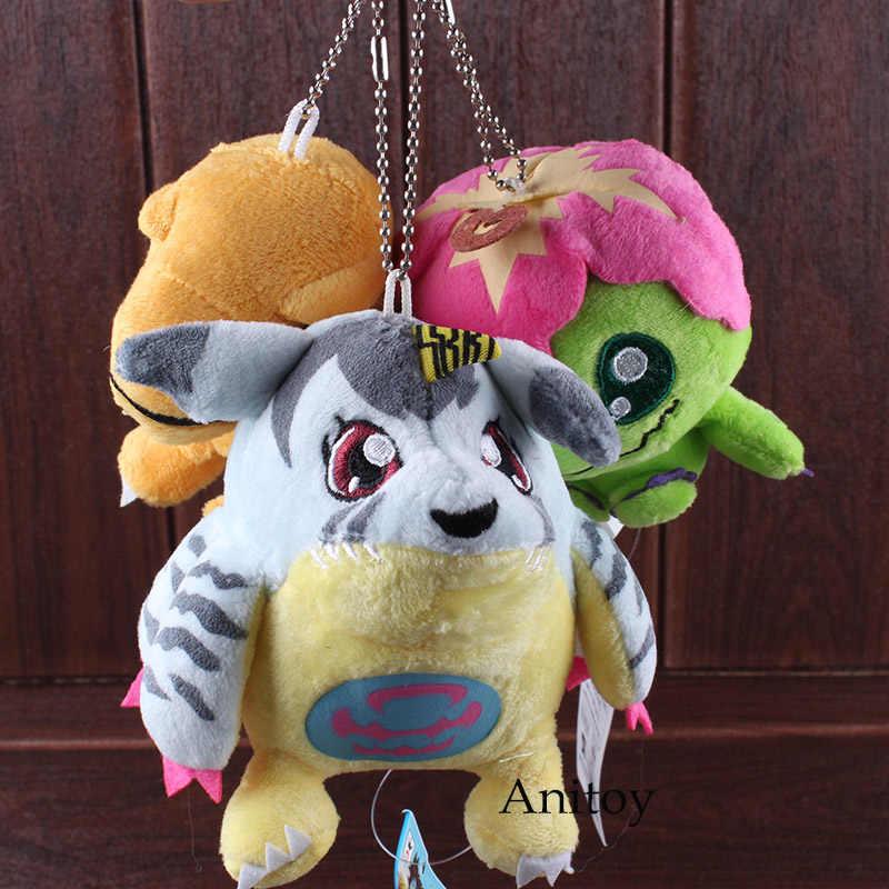 Del Fumetto Del Anime Digimon Adventure Digimon Peluche Bambola Agumon Palmon Gabumon Pendente Della Peluche Molle Farcito Giocattoli 10 pz/lotto