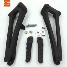 Rear Passenger Foot Pegs For Yamaha YZF R1 2009 2010 2011 Bracket Footrests Footpegs YZF-R1 Foot Rests цена