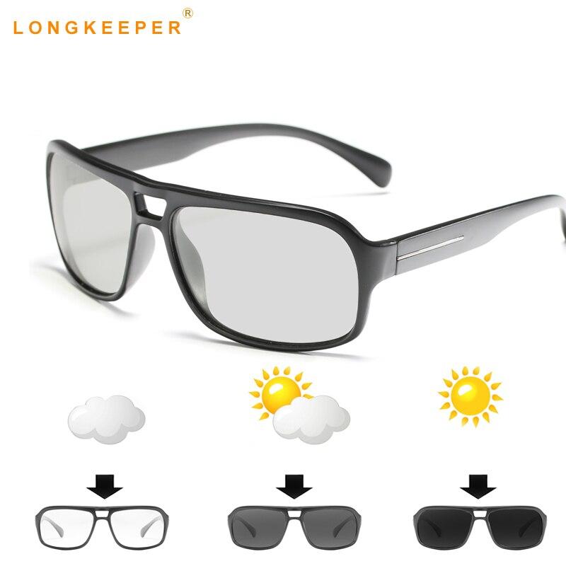 b69b0fb948 Photochromic HD gafas de sol polarizadas mujeres hombres camaleón coche  conducir gafas UV400 antideslumbrante gafas