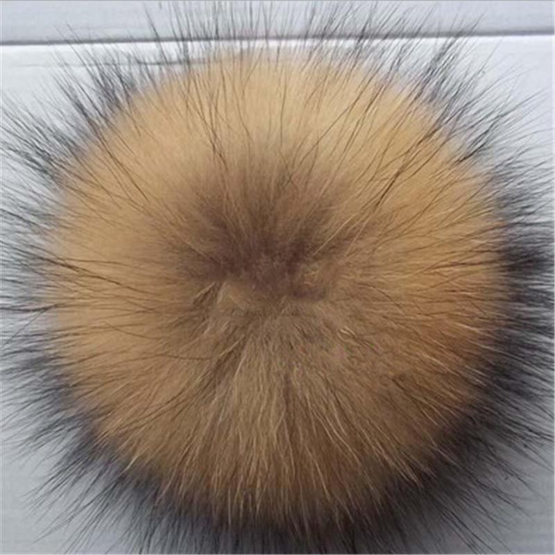 15CM Real Fur Pom Pom For Caps Fox Fur For Hat