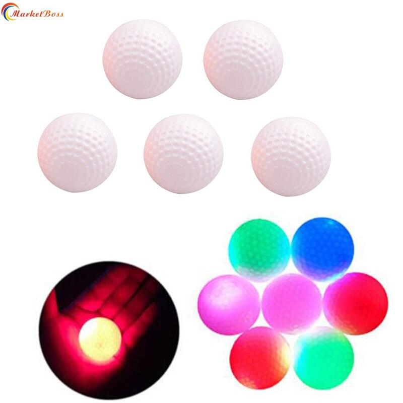 3pcs/Set Flashing LED Golf Ball Stylish Electronic Exercise Balls Colorful Bright At Night Great Gift For Golfer