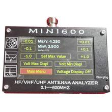 New Mini600 5V/1.5A Hf Vhf Uhf Antenna Analyzer 0.1-600Mhz Swr Meter 1.0-1999 For Radio(China)