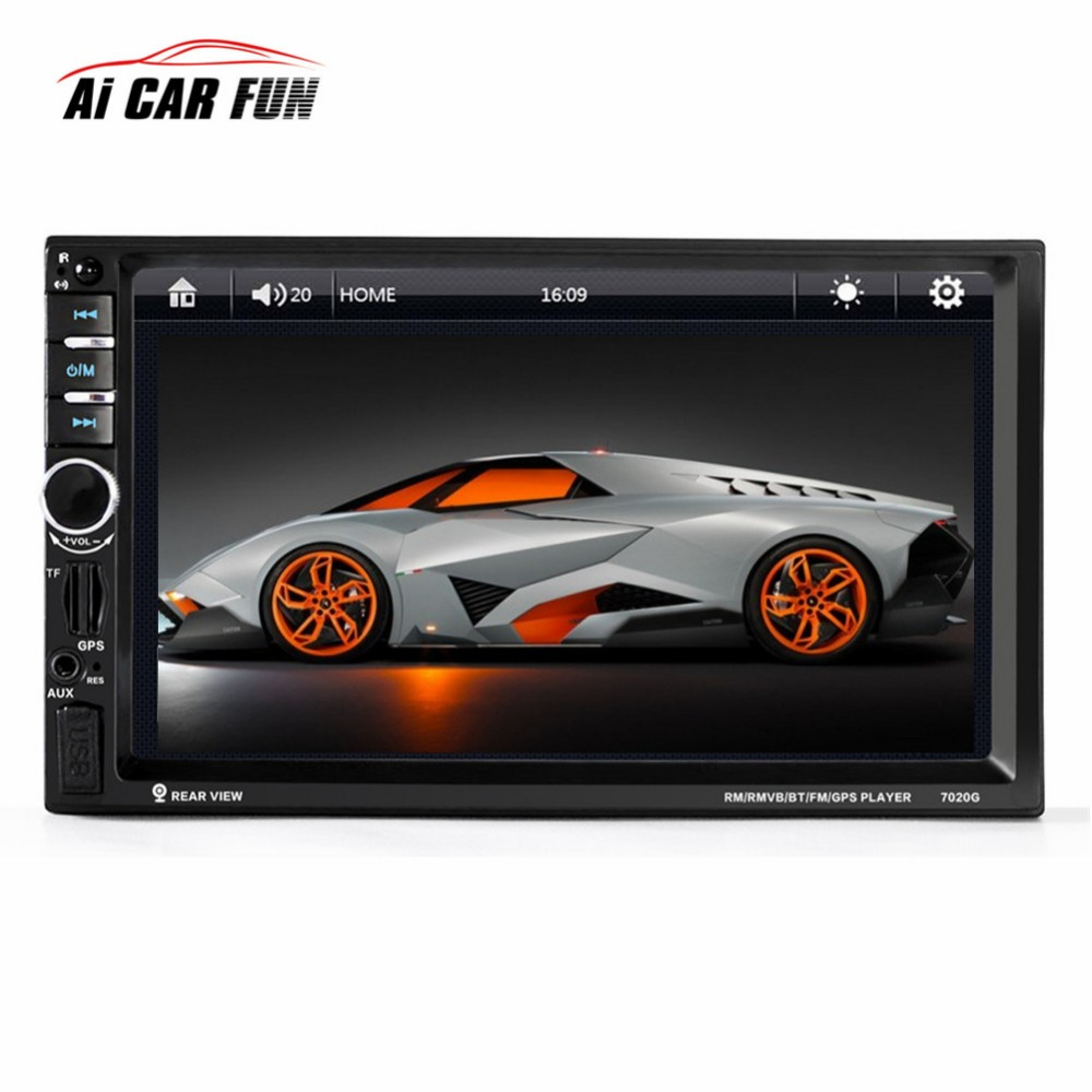 7-inch Universal Car DVD Video Player Bluetooth CD Mp4 Mp5 Player Touch Screen With Rearview Camera Car Gps Tracker Navigation car mp5 player with rearview camera gps navigation 7 inch touch screen bluetooth audio stereo fm function remote control