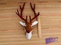 Mô phỏng sika hươu của head 28x12x18 cm tốt lành deer Tường đầu treo đồ chơi lông mô hình mẫu ornament trang trí trang trí h1500