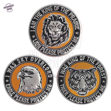 HOT Beast Lion/Eagle/Tiger 3D aluminum Fashion emblem Drawing silver for Motorcycle Car Sticker Car Racing Labels free shipping