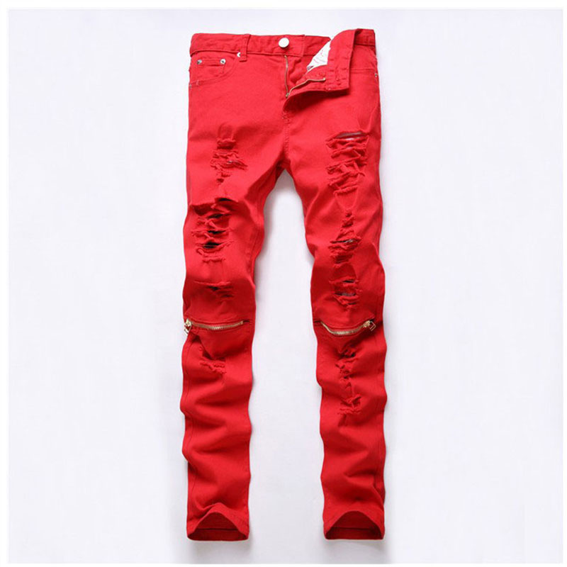 Popular Red Jeans Fashion-Buy Cheap Red Jeans Fashion lots from