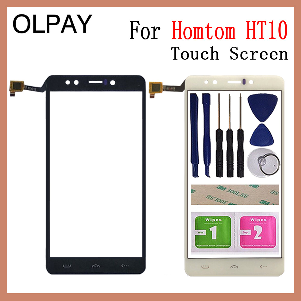 OLPAY 5.5'' For <font><b>Homtom</b></font> HT10 HT <font><b>10</b></font> Touch Screen Digitizer Panel Front Outer Front Glass Lens Sensor Free Adhesive+Wipes image