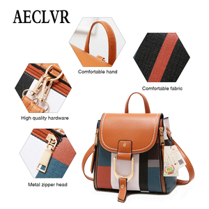 Image 3 - AECLVR Women Backpack Designer High Quality PU Leather Female Bag Fashion School Bags Large Capacity Backpacks Travel Bags