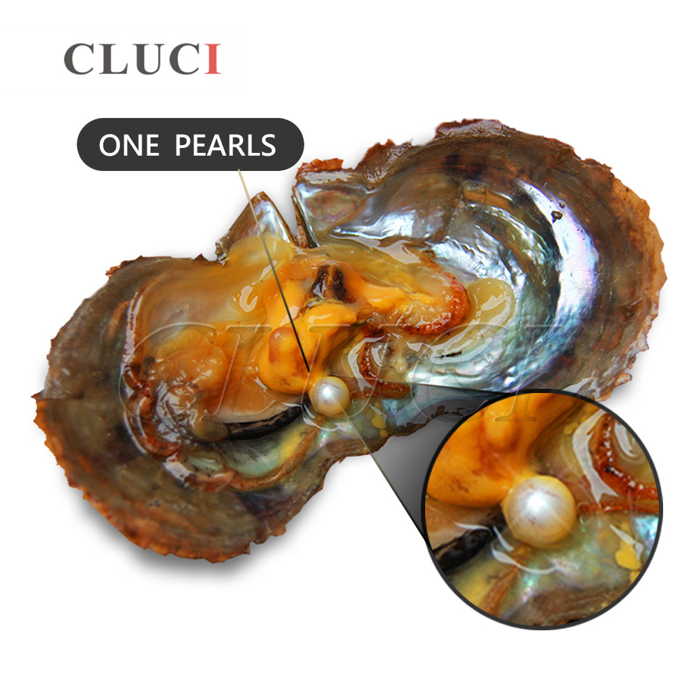 CLUCI 30 sztuk życzenie Pearl Oyster 7 8mm okrągły Akoya Pearl w ostrygi naturalne ze słoną wodą ostrygi z perły w Koraliki od Biżuteria i akcesoria na  Grupa 2
