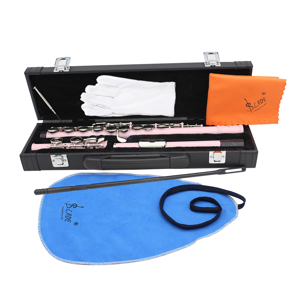 Flute Woodwind-Instrument Case Cleaning-Set Plated Concert 16 Cupronickel with 16-Holes