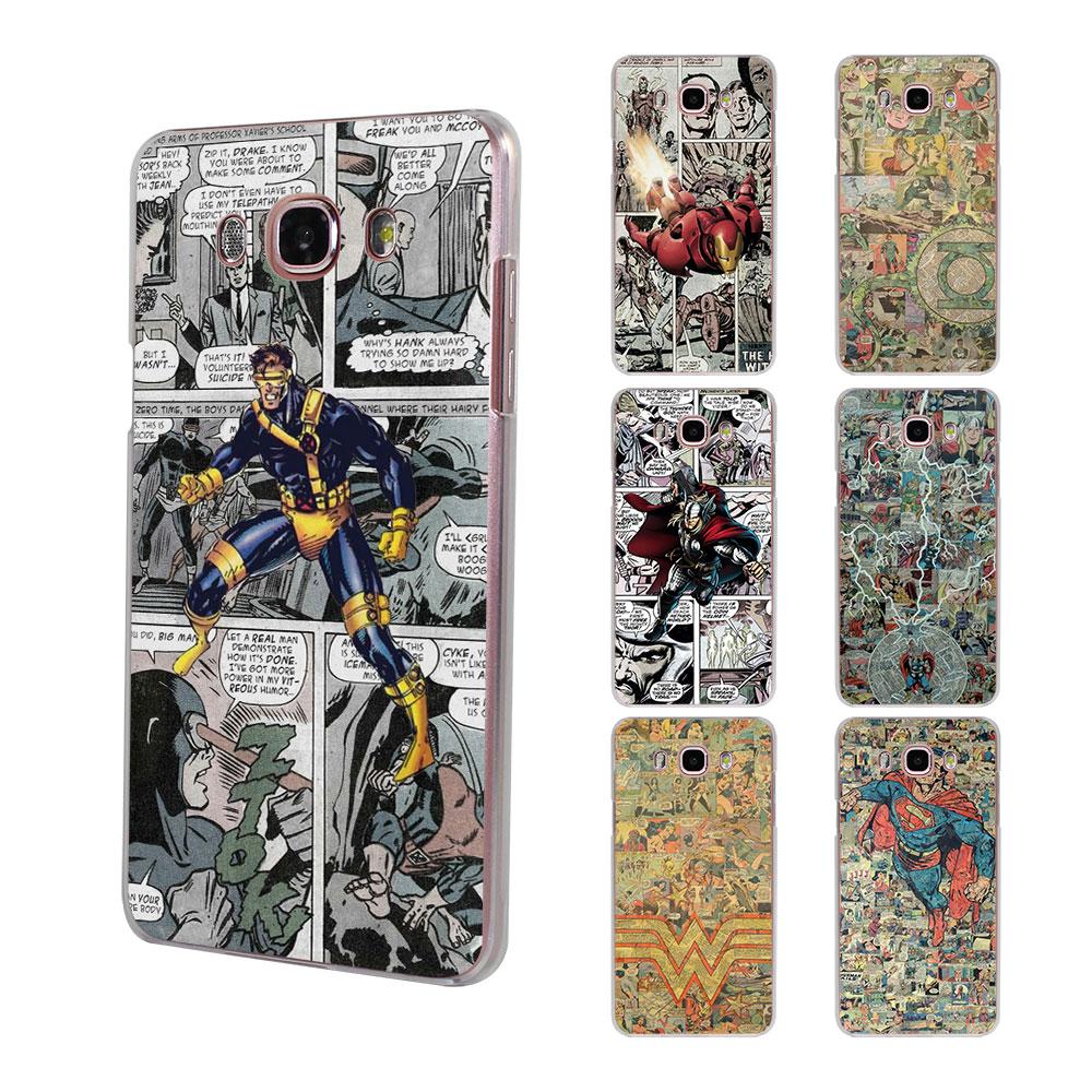 Comic Super Heroes коллажи Тор Доктор Кто (твердый прозрачный чехол для телефона для Samsung Galaxy <font><b>J5</b></font> (2017) J7 (2017) J510 J710 J2 премьер J3 20