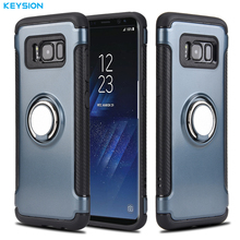 KEYSION Magnetic Suction Ring Phone Case for Samsung Galaxy S7, S8, S9, Note 8, Note 9
