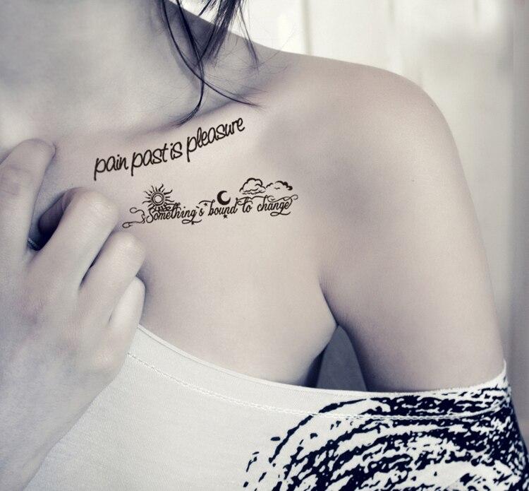 Tattooing Freeshipping Body Stick Tattoos Personality English Short