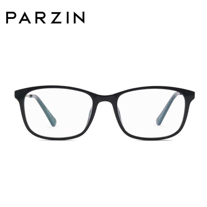 Parzin mode lunettes cadres femmes lunettes cadre Tr 90 ordinateur optique clair lentilles lecture lunettes noir avec étui 5055