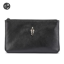 ETONWEAG New Arrival Luxury Brand Designer Male Clutch Genuine font b Leather b font Wallet Holder