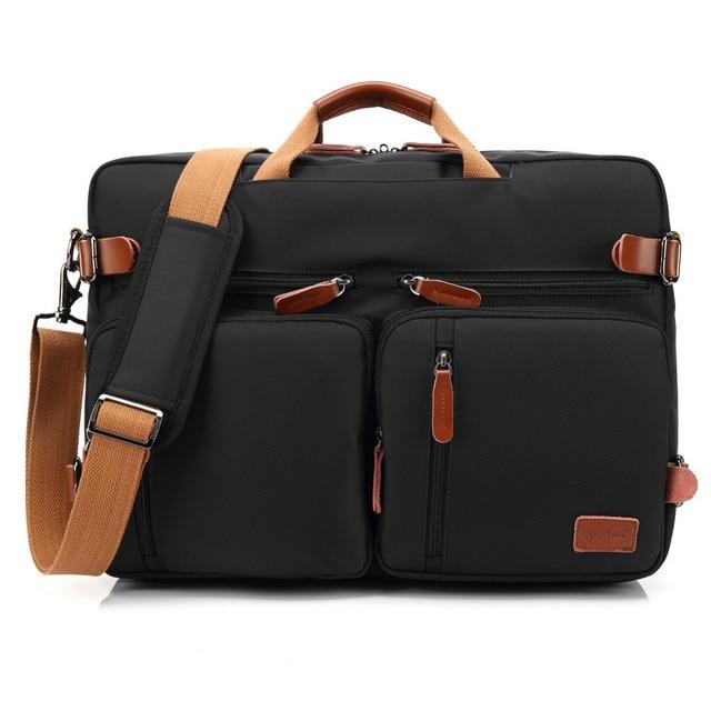 Convertible Backpack Laptop bag 17 17.3 inch notebook bag shoulder Messenger Bag Laptop Case Handbag Business Briefcase Rucksack