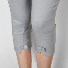 YSDNCHI Short Trousers Mid Waist Ladies Casual Capris Women