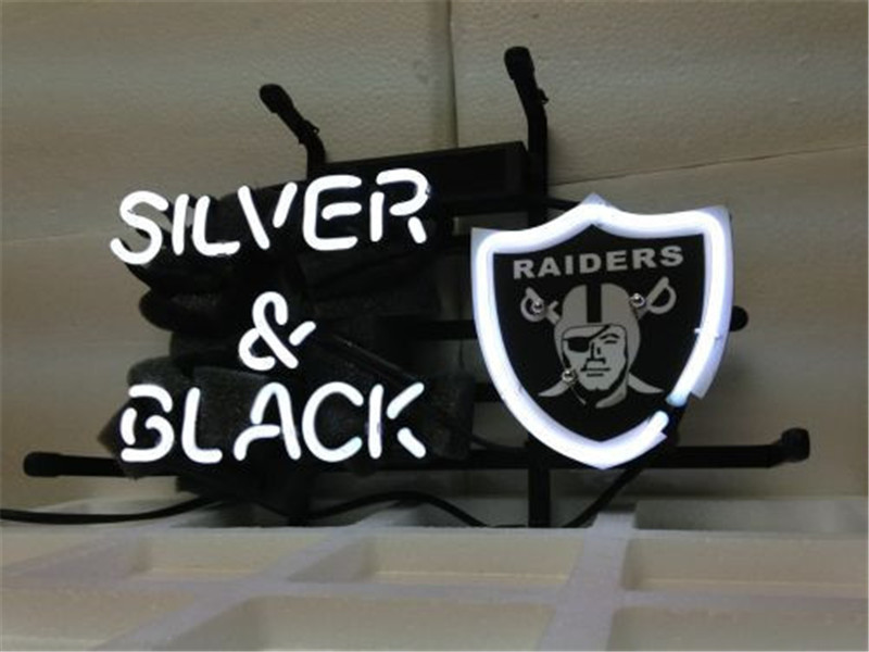 NEON SIGN For OAKLAND RAIDERS FOOTBALL Signboard REAL