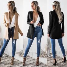 KANCOOLD coats Blazers Ladies Long Sleeve Cardigan Casual Blazer