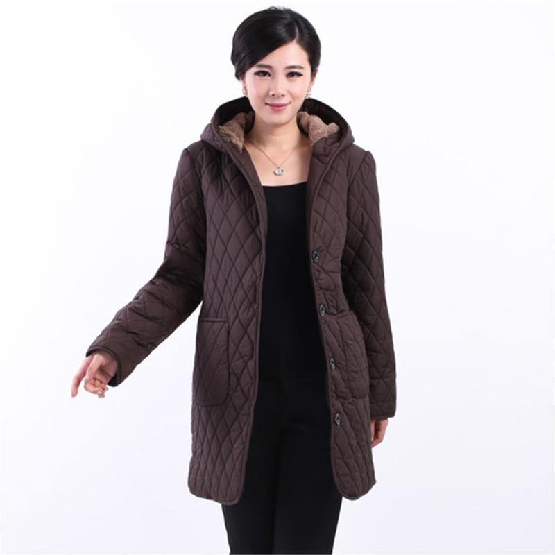 2016 Fashion long coat winter clothing women s jacket women fertilizer coats medium long outerwear Loose