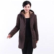 2016 Мода длинное пальто зимняя одежда женская куртка женщин удобрений пальто средней длины верхняя одежда Свободно плюс размер