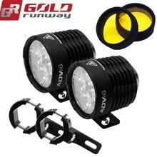 GOLD RUNWAY مصابيح مساعدة لرقاقة LED ، 32W ، 3600LM ، 6000K ، جديد ، ADV4