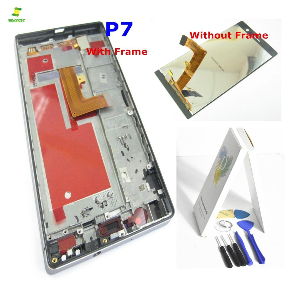 Un + Pour huawei Ascend P7 P7-L00 P7-L05 P7-L10 Avec Cadre Lcd Écran Tactile Écran Numériseur Écran Lcd Nouveau Pour huawei nova 3 LCD