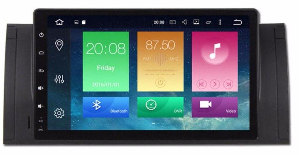 9 pouces Android 8.0 lecteur DVD GPS de voiture pour BMW E39 M5 E53 X5 Navigation Octa Core 4G RAM 32G ROM Radio BT carte 1024*600 WIFI DAB +