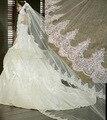 3 М Белый Кот Собор Фаты Длинные Края Шнурка Bridal Veil с Расческой Свадебные Аксессуары Невесты Мантилья Свадебная Фата