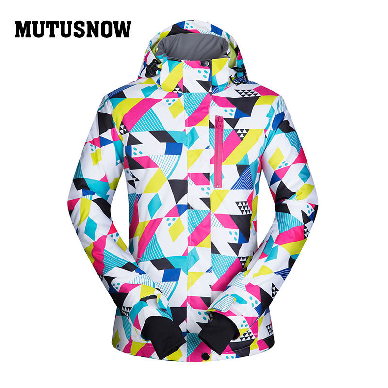 MUTUSNOW veste de Ski femme veste de Ski Snowboard coupe-vent imperméable vêtements d'hiver vêtements de Sport de plein air à capuche manteau Super chaud