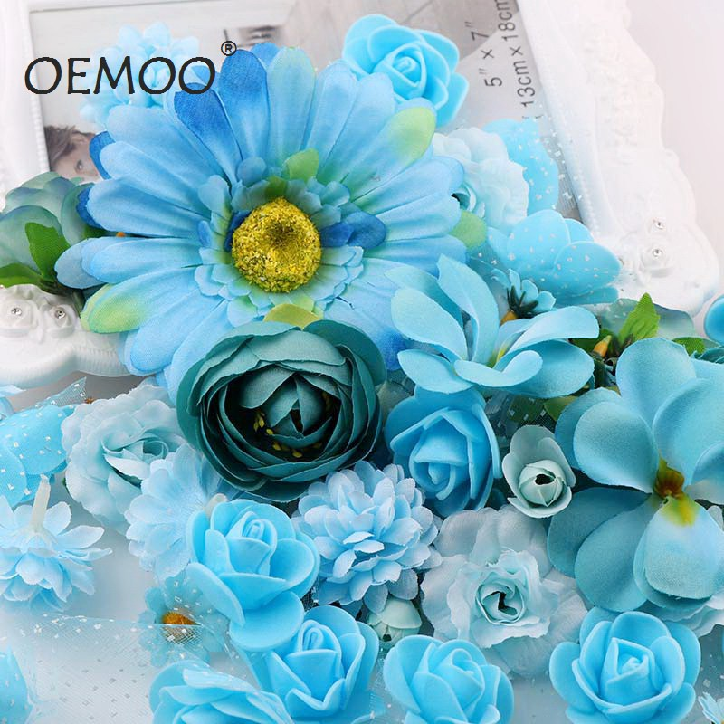 50pc/lot Mix Style Colors Heads Decoration Flower Heads Artificial Silk Flowers Party Wedding Decoration Home Decor