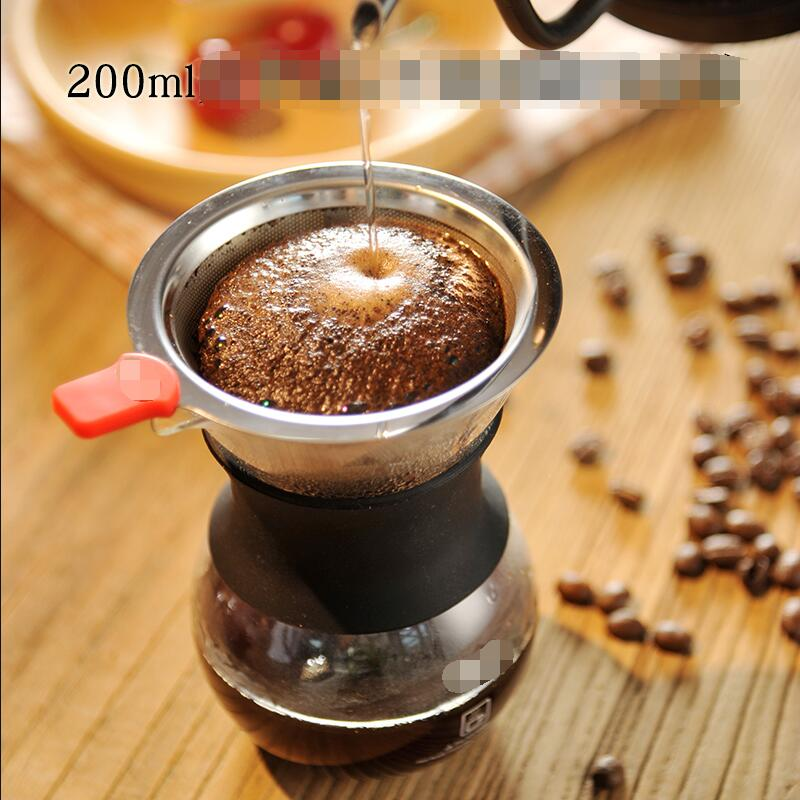Hot Selling Newest Coffee Filter Cup Double Stainless Steel Drip Filter Set for Hand Brewing Coffee Sharing Pot Home Accessories