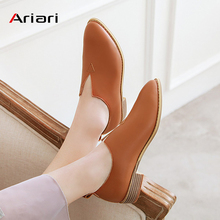 Casual Shoes Women Loafers Fashion Light Comfortable PU Leather Oxford Slip on women shoes Low Heel Flat shoes Large size 48