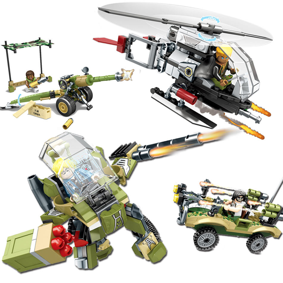 Military  figures building blocks Helicopter army weapons sembo block enlighten educational toys for children friends hobbit 128pcs military field legion army tank educational bricks kids building blocks toys for boys children enlighten gift k2680 23030