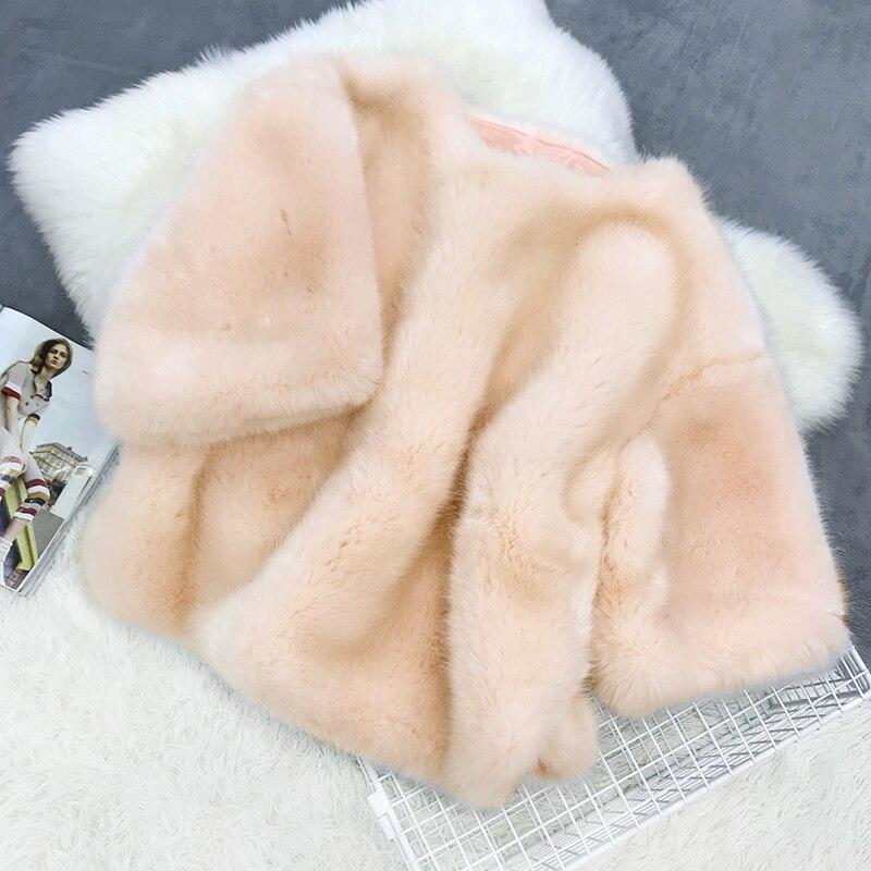 Piel Más Azul Conejo Pelo Sintética Imitación De Mujeres Abrigos pqqdxX